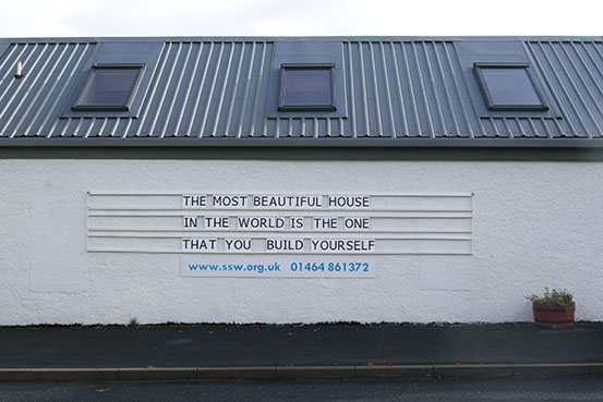The most beautiful house in the world is the one that you build yourself.
